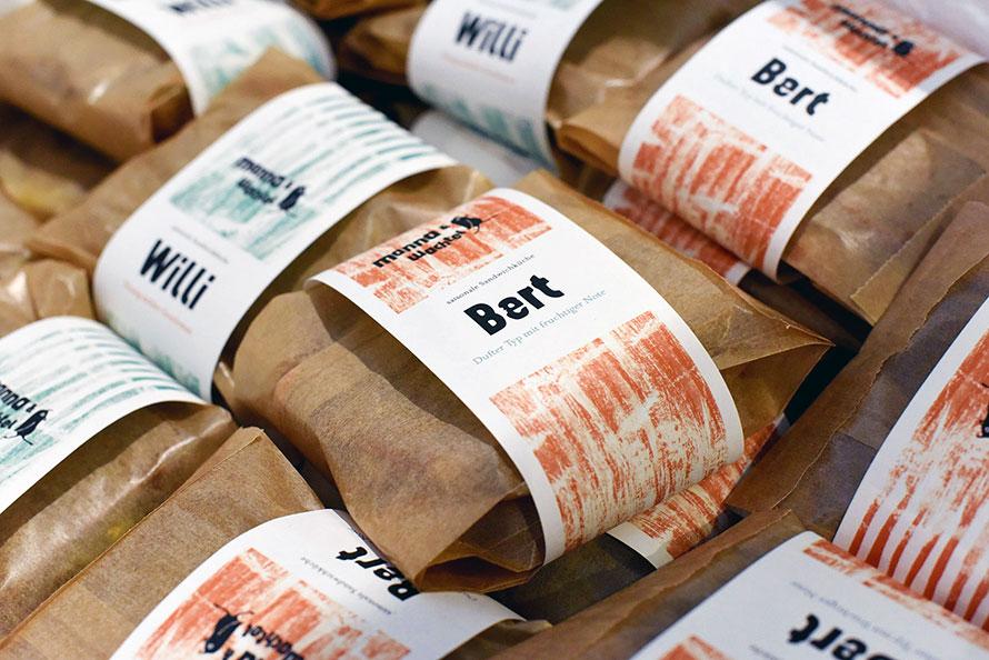 Bert & Willi. Die Sandwiches für den Monat März.