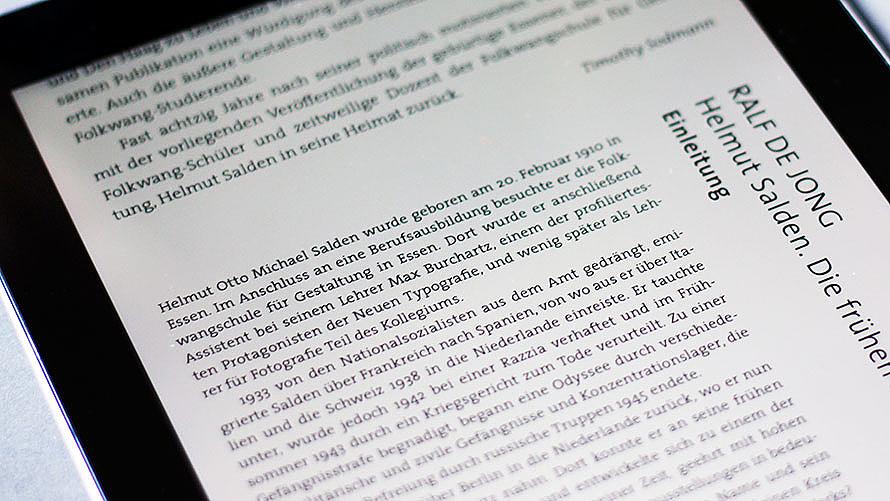 »Buch-Gestalten im Exil« - die digitale Adaption für das iPad von Marcel Kather basiert auf einem hybriden Ansatz.