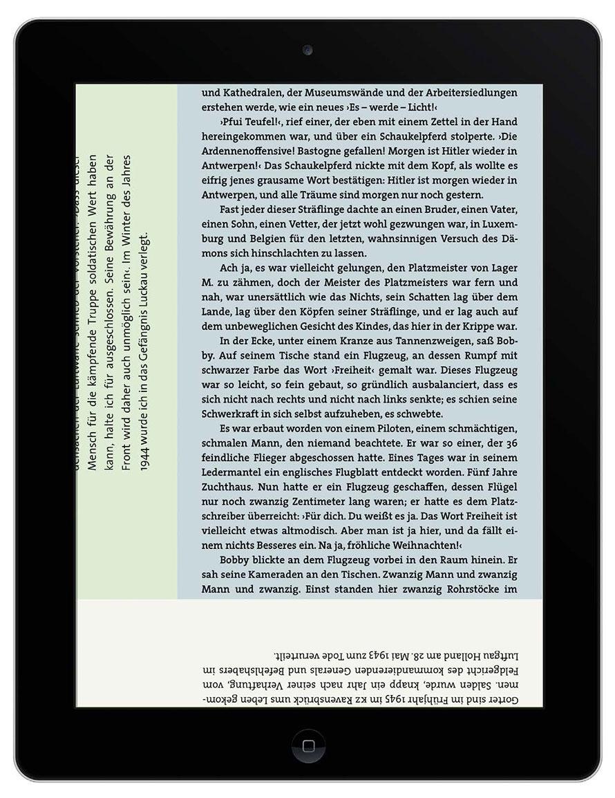 »Buch-Gestalten im Exil« - der Leser entscheidet wann er welchen Text liest.
