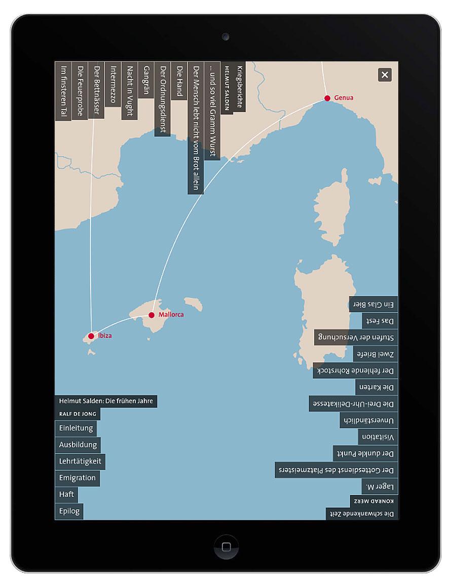 »Buch-Gestalten im Exil« – eine interaktive Karte als Navigation.