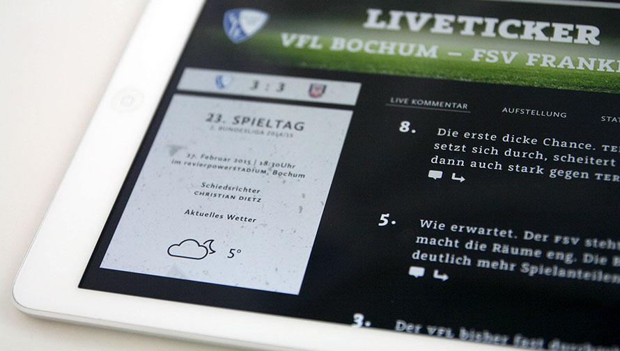 Der Liverticker im eMagazin »Mein VFL«