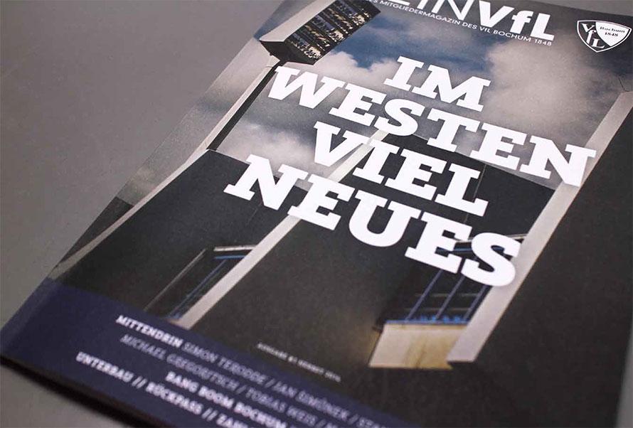 Das Mitgliedermagazin »Mein VFL« in der Print-Version