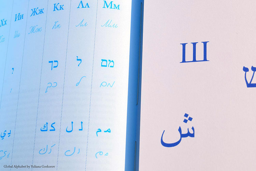 Even though they look very different at first sight, the Latin, Cyrillic, Hebrew and Arabic alphabets have many similarities