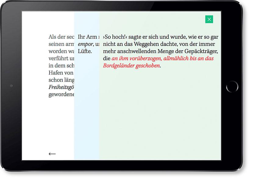 Screen des Entwurfes »Der Heizer Nonlinear erzählt«